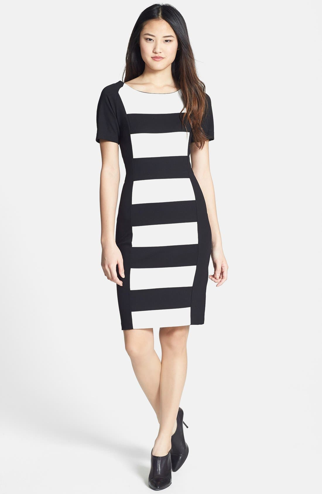 Alternate Image 1 Selected - DKNYC Colorblock Ponte Sheath Dress