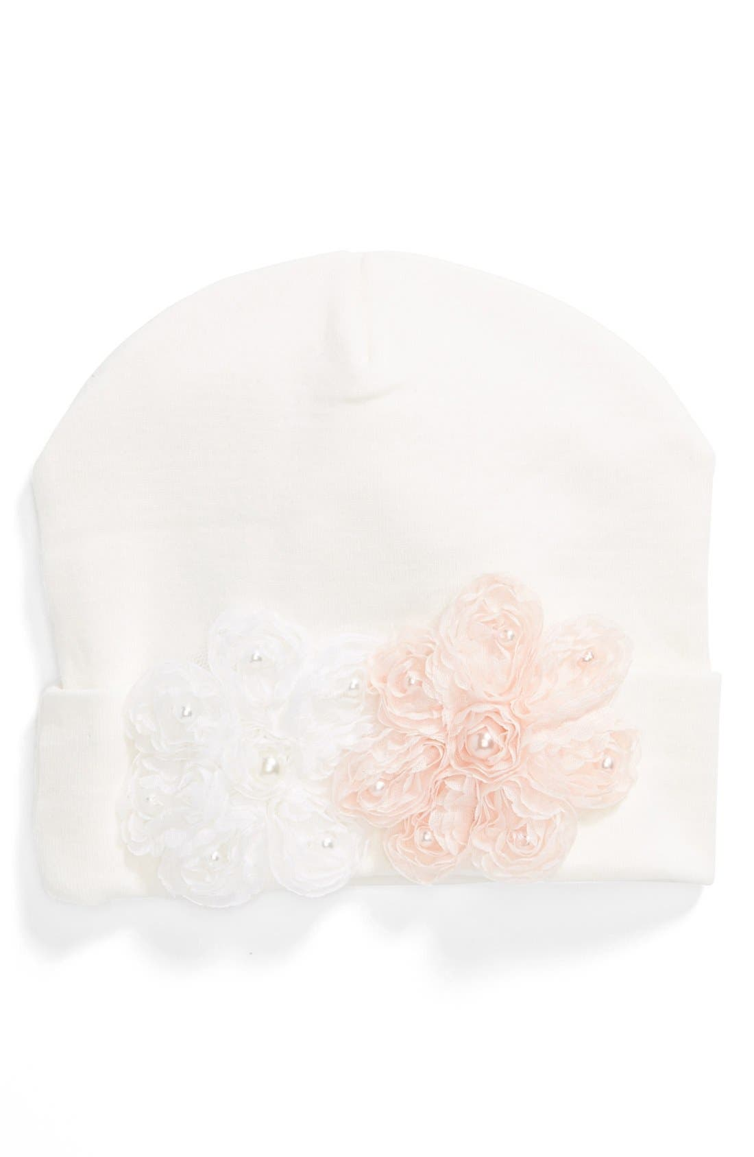 Alternate Image 1 Selected - PLH Bows & Laces Flower Hat (Baby)