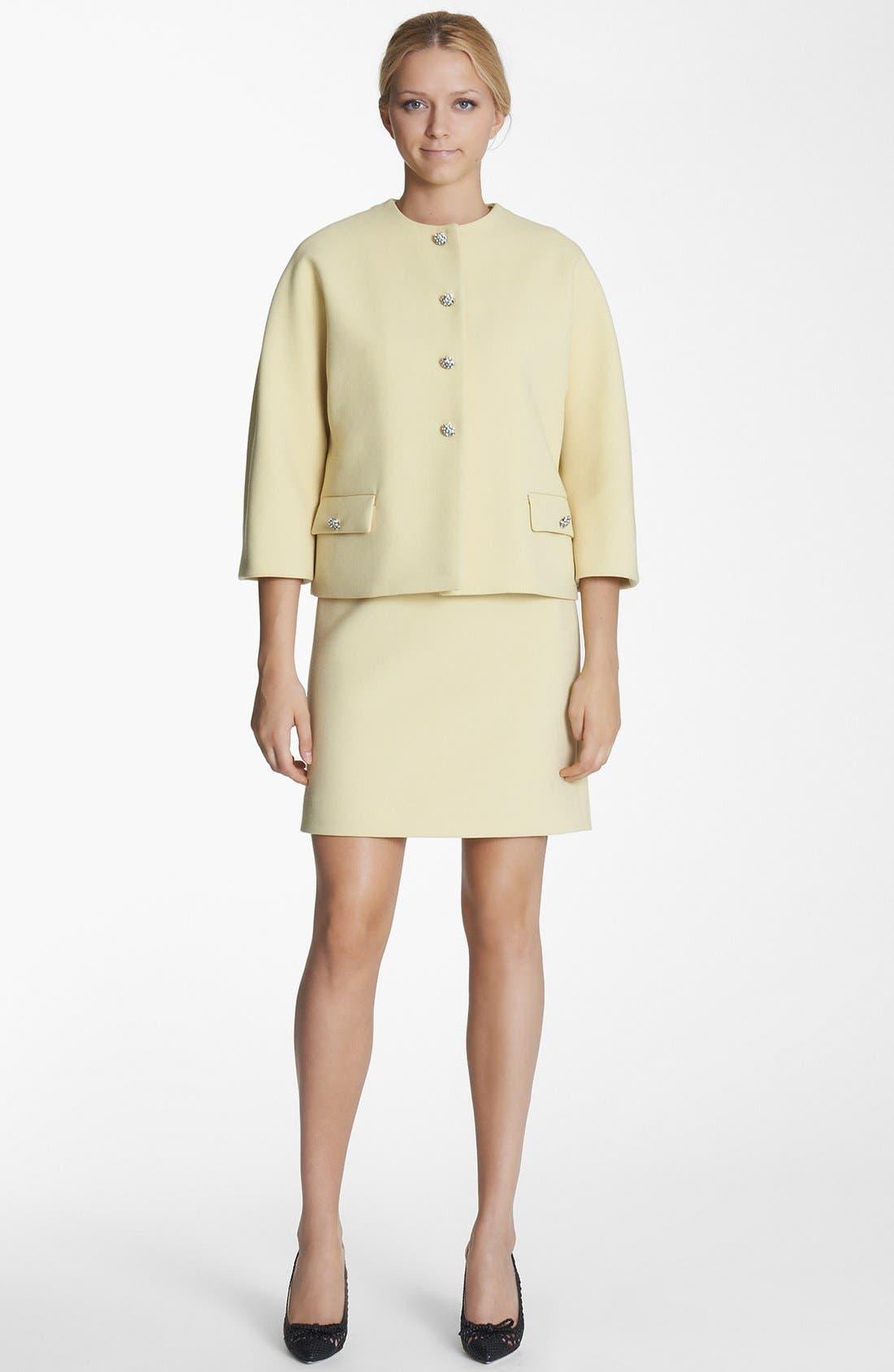 Alternate Image 1 Selected - Dolce&Gabbana Crystal Button Crepe Jacket