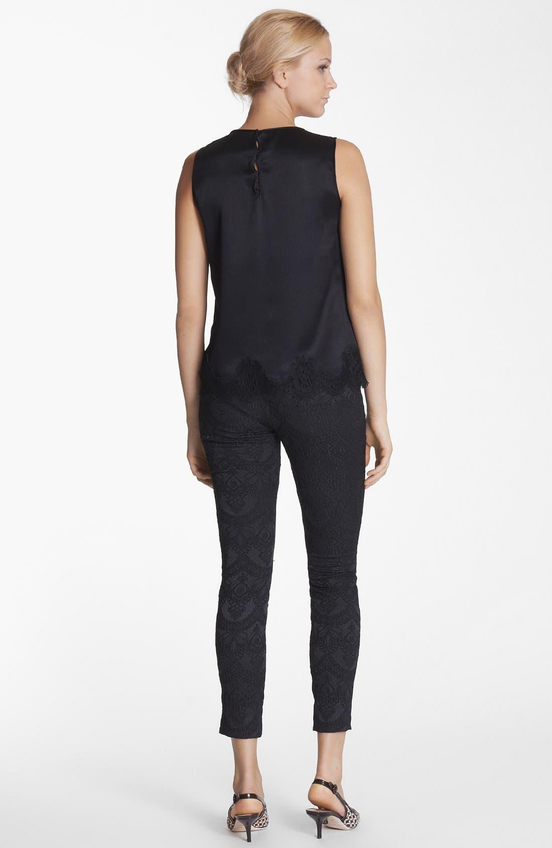 Alternate Image 2  - Dolce&Gabbana Lace Hem Silk Blend Top