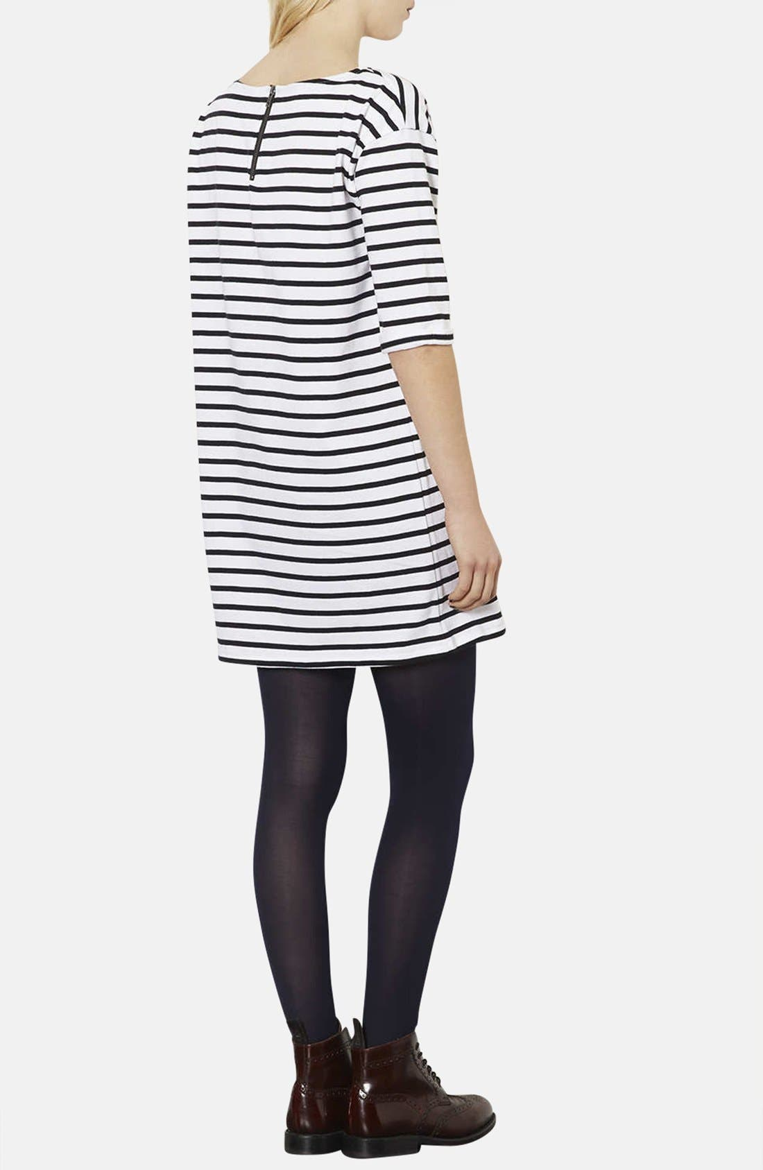 Alternate Image 2  - Topshop Stripe Cotton Tunic Dress