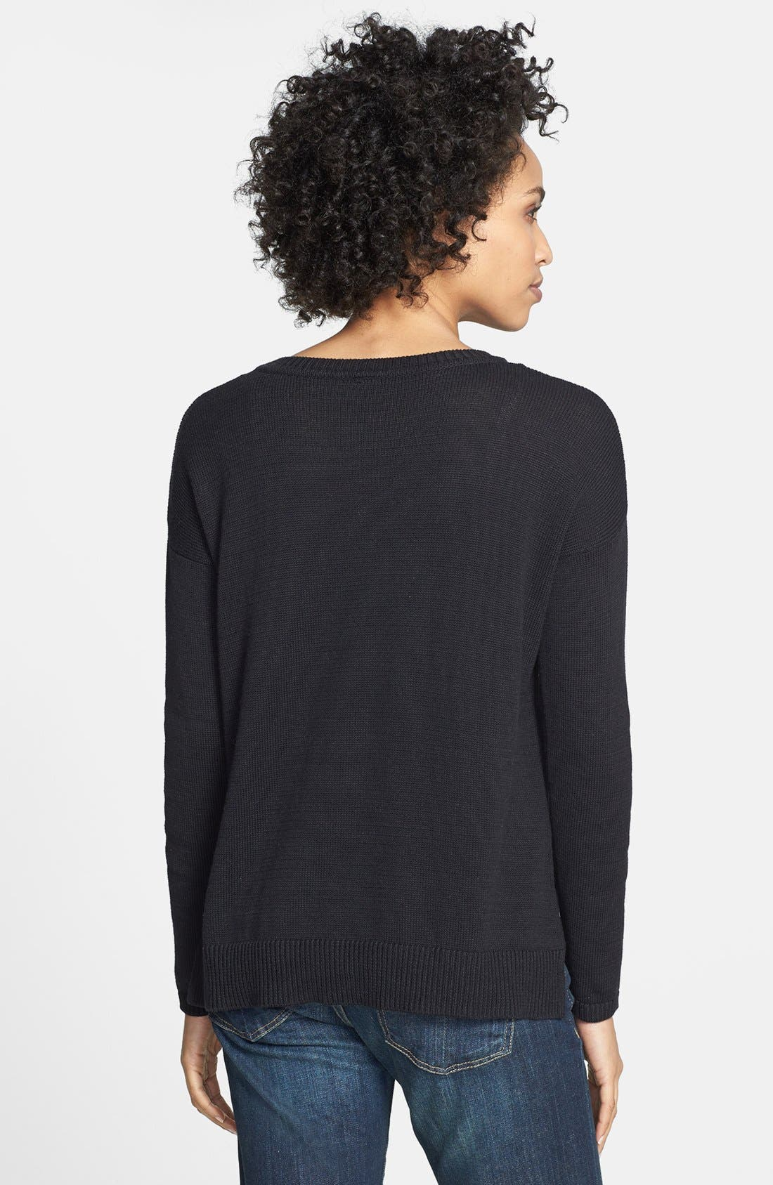 Alternate Image 2  - eric + lani 'Hedgehog' Intarsia Sweater