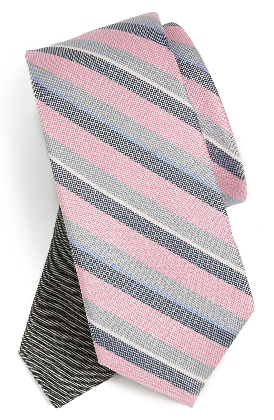 Alternate Image 1 Selected - EDIT by The Tie Bar Stripe Silk Tie (Nordstrom Exclusive)