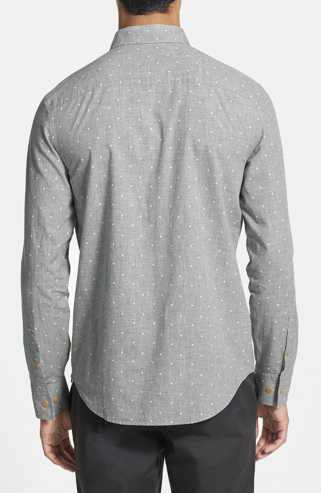 Alternate Image 2  - Original Penguin Heritage Fit Diamond Dot Print Woven Shirt