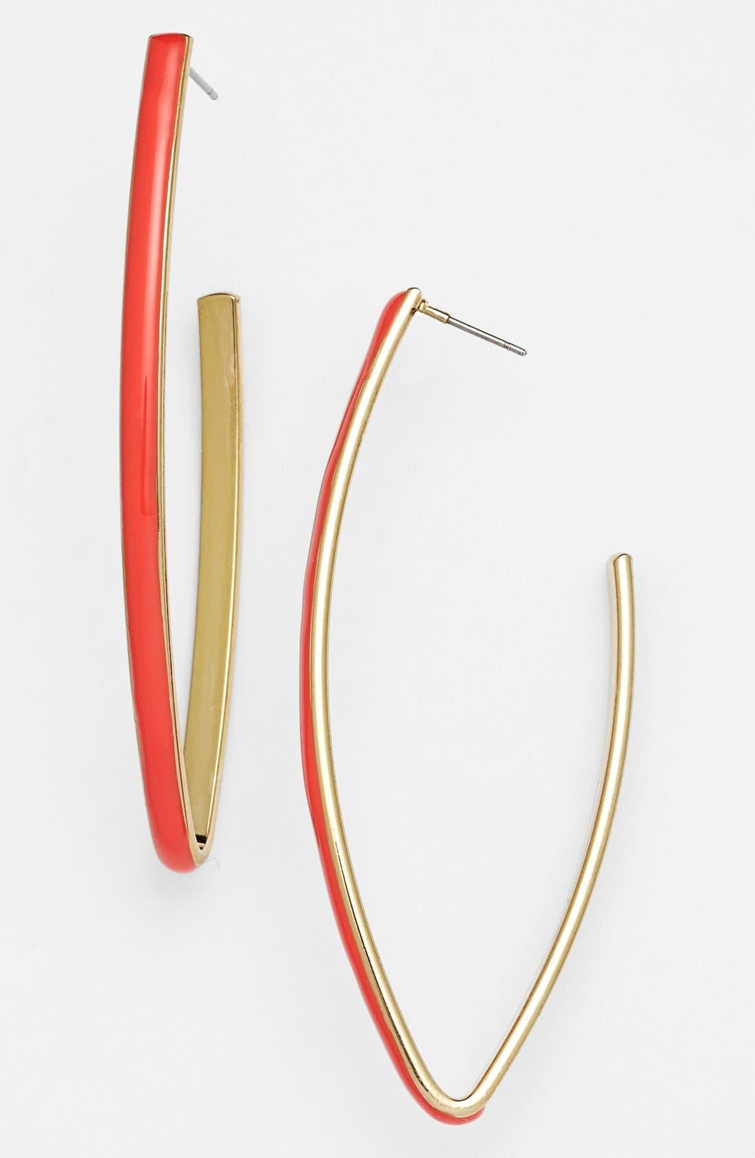Main Image - Robert Rose Linear Hoop Earrings
