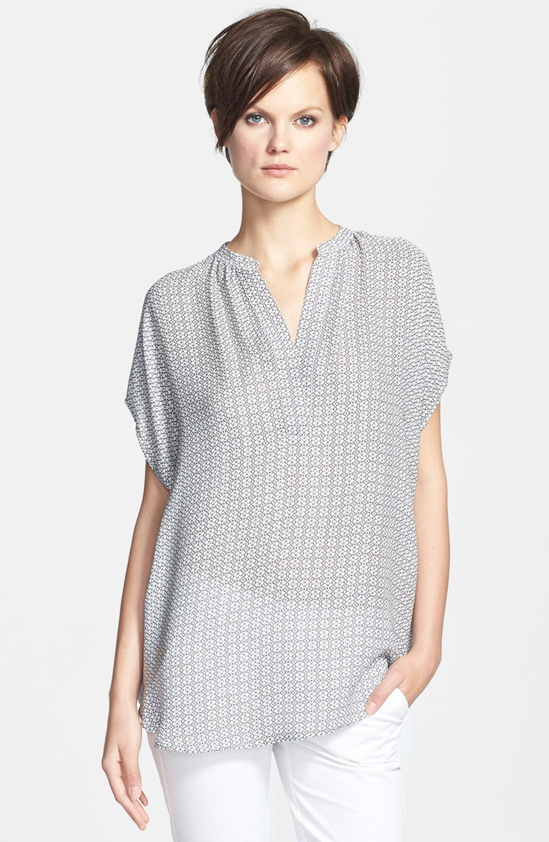Alternate Image 1 Selected - Vince 'Popover' Print Blouse