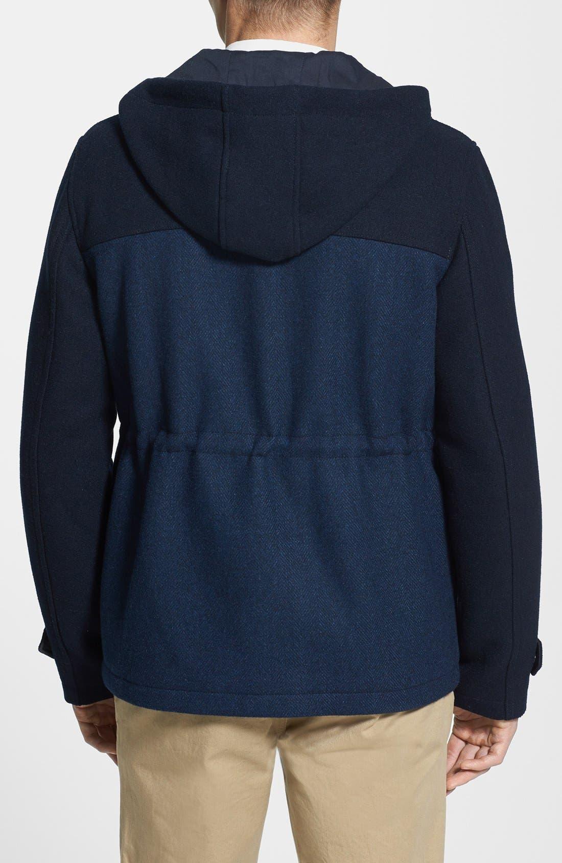 Alternate Image 2  - Topman Two-Tone Wool Blend Field Jacket
