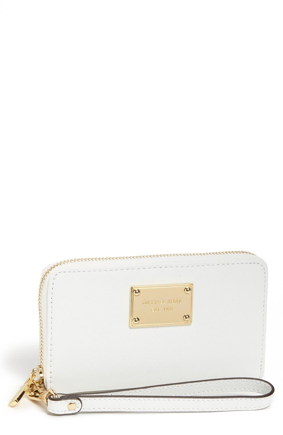Alternate Image 1 Selected - MICHAEL Michael Kors 'Saffiano' Phone Wallet