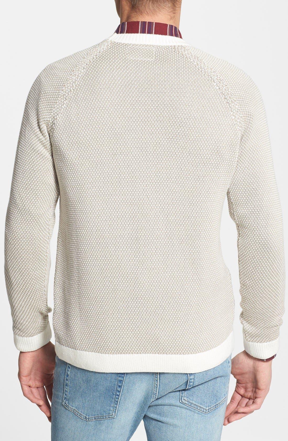 Alternate Image 2  - Topman Reverse Knit Crewneck Sweater