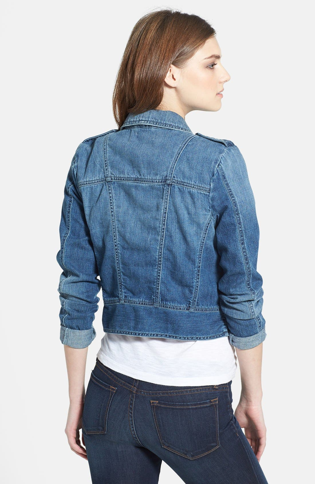 Alternate Image 2  - Lucky Brand 'Addisyn' Moto Jacket
