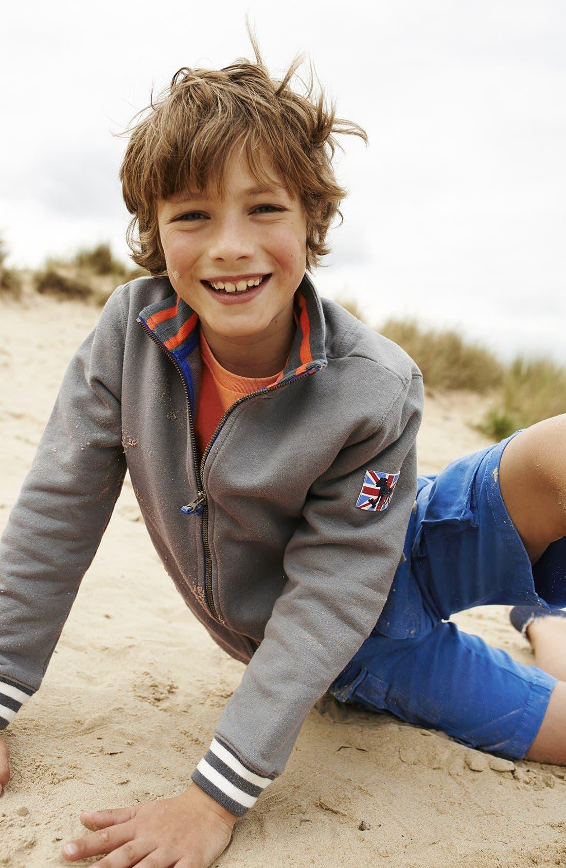 Alternate Image 2  - Mini Boden Zip Sweatshirt (Toddler Boys, Little Boys & Big Boys)