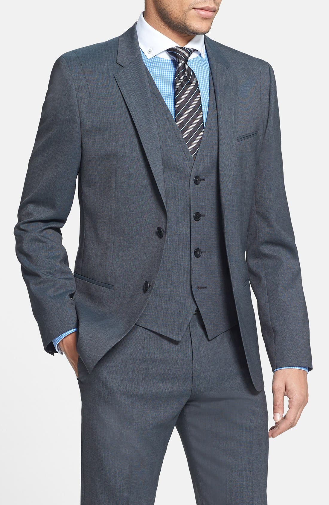 Alternate Image 3  - HUGO 'Arant/Won/Hixby' Extra Trim Fit Three-Piece Suit