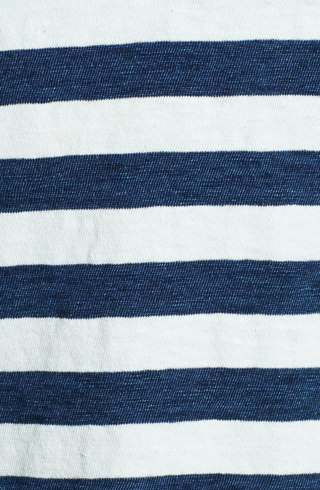 Alternate Image 3  - Splendid Stripe Scoop Neck Cotton Tee