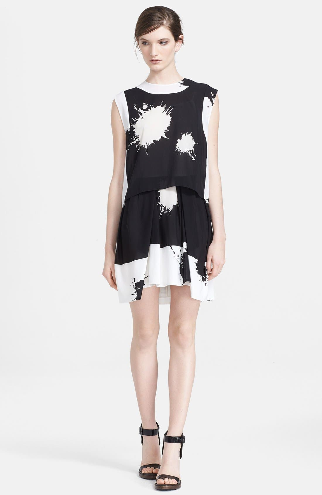 Alternate Image 1 Selected - 3.1 Phillip Lim Print Silk Two-Piece Tunic Dress