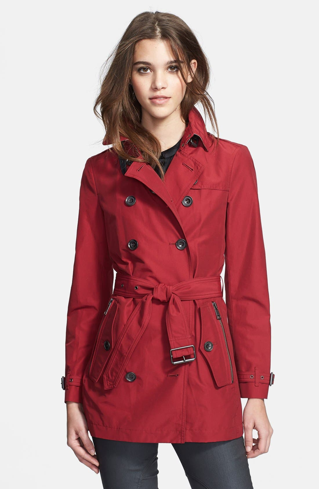 Alternate Image 1 Selected - Burberry Brit 'Brookesby' Double Breasted Trench Coat
