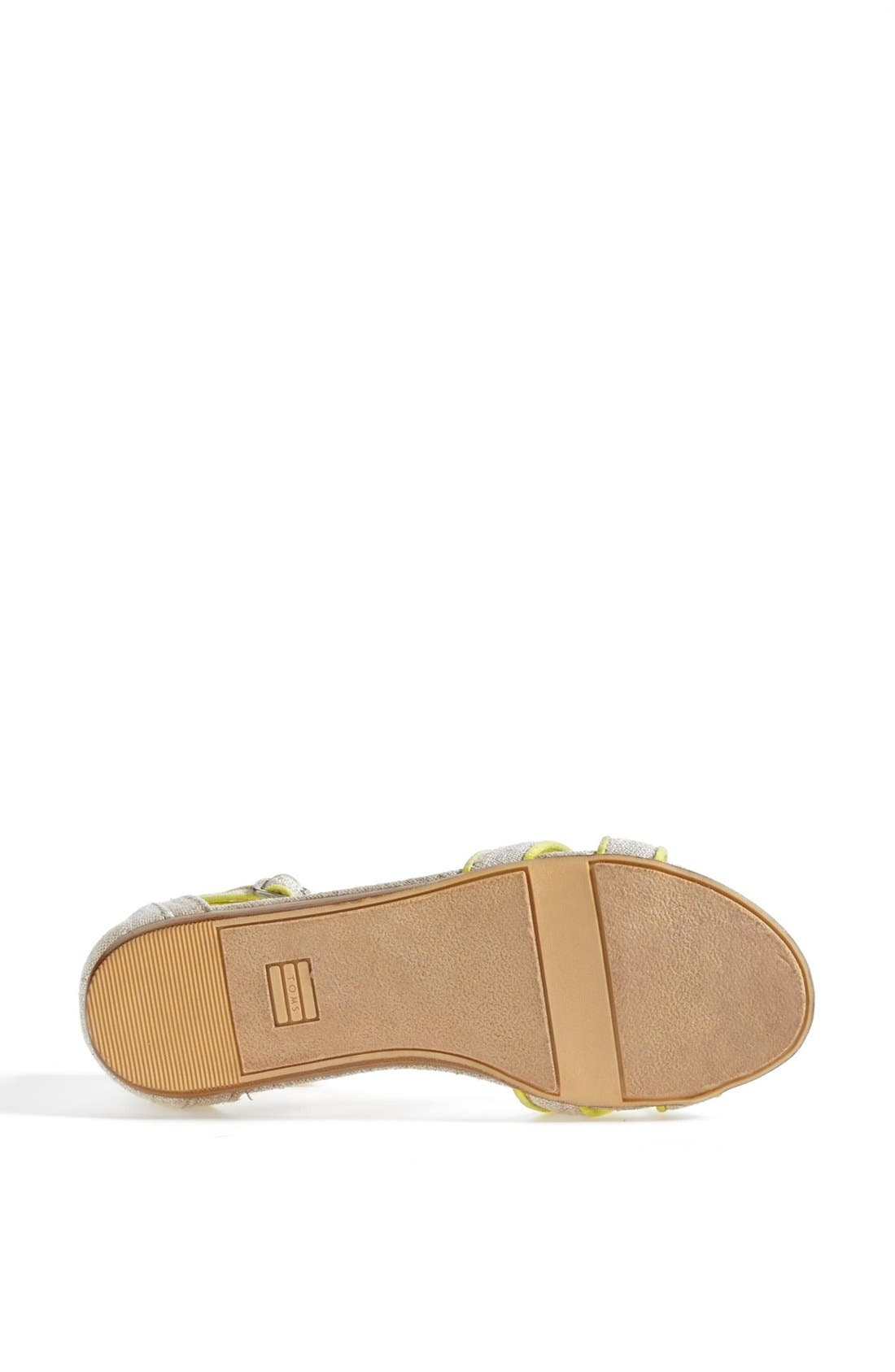 Alternate Image 4  - TOMS 'Correa' Ankle Strap Flat Sandal