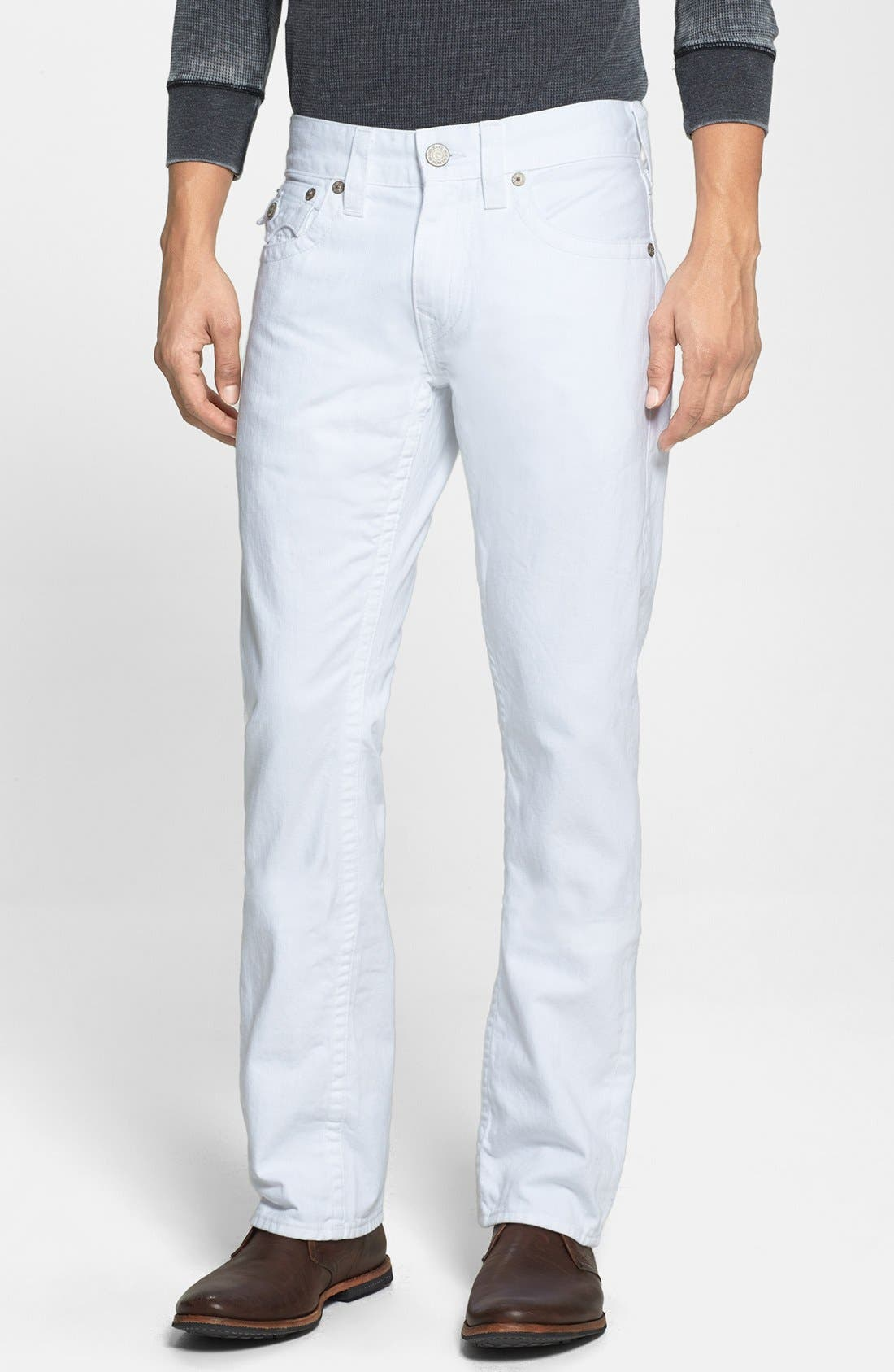 Alternate Image 2  - True Religion Brand Jeans 'Ricky' Relaxed Fit Jeans (Optic White)