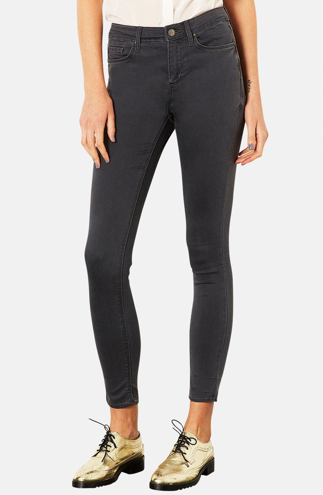 Alternate Image 1 Selected - Topshop Moto 'Leigh' Skinny Jeans (Regular & Short)