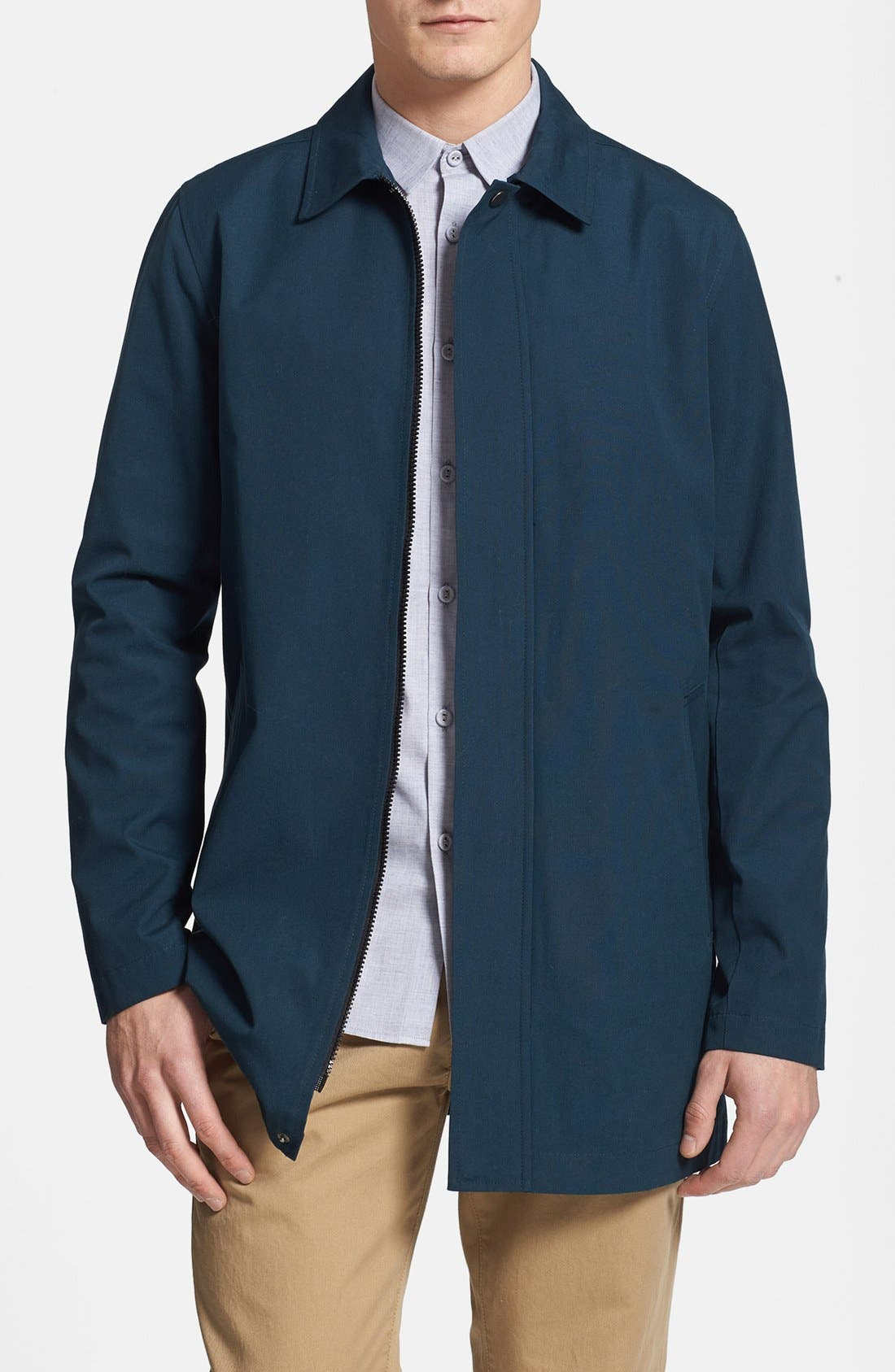 Alternate Image 1 Selected - Topman Cotton Trench Coat