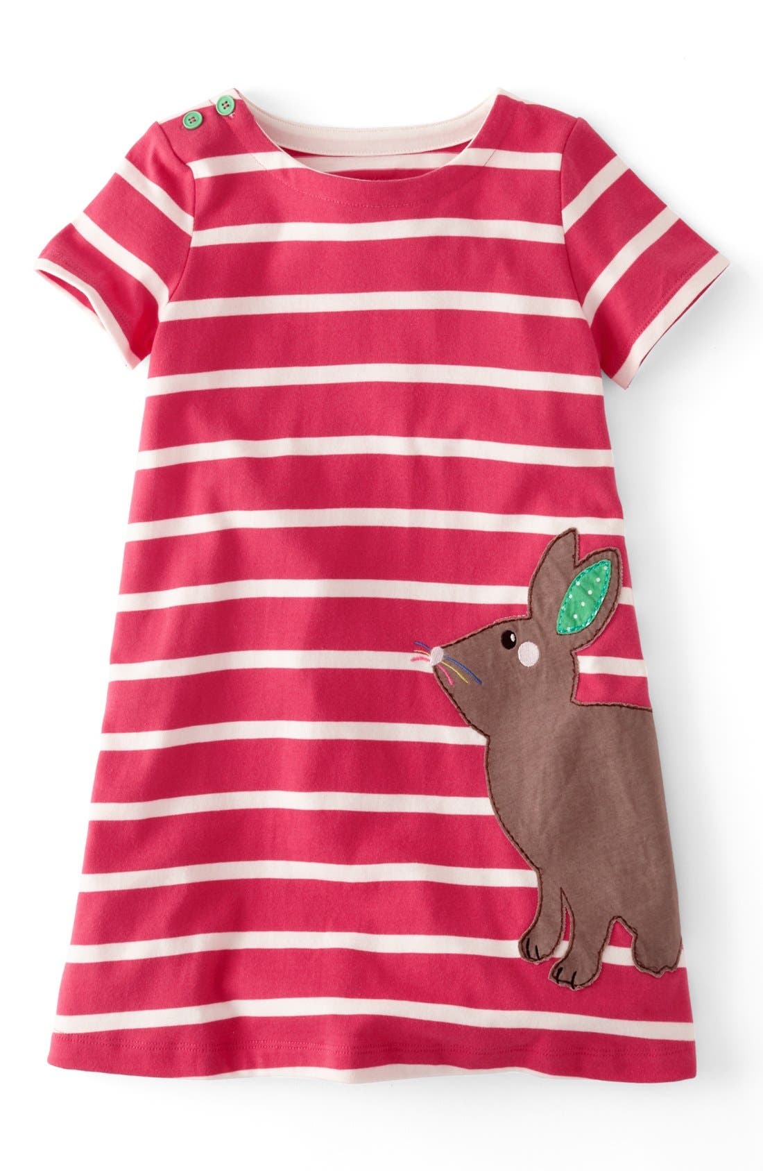 Main Image - Mini Boden Appliqué Dress (Toddler Girls, Little Girls & Big Girls)