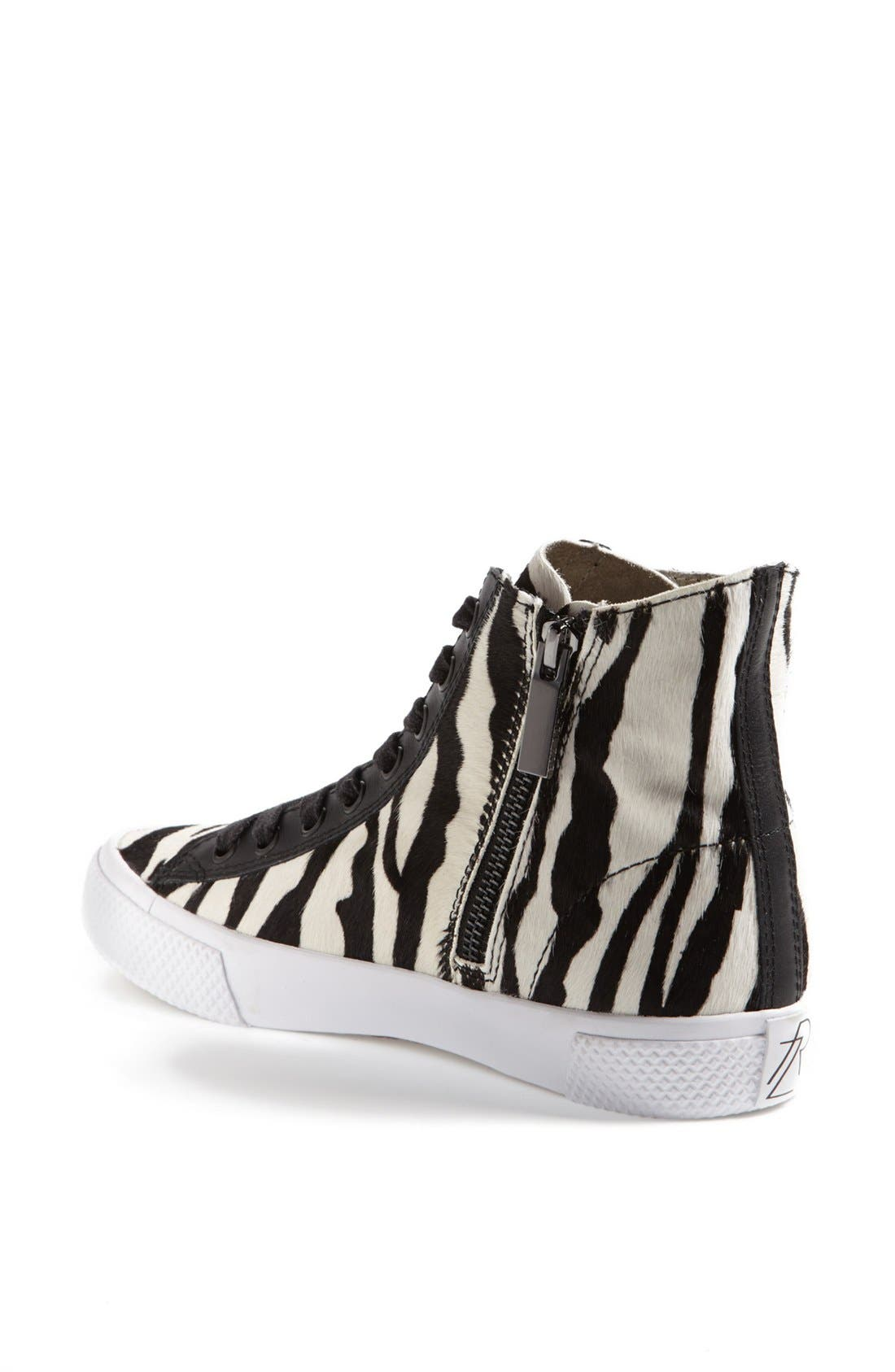Alternate Image 2  - Rachel Zoe 'Barret' Zebra Print Calf Hair Sneaker (Online Only)