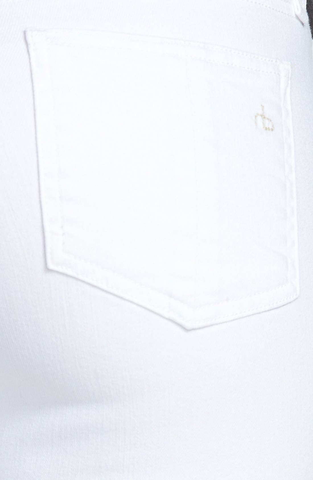 Alternate Image 3  - rag & bone/JEAN 'Repair' Skinny Crop Jeans (Bright White)