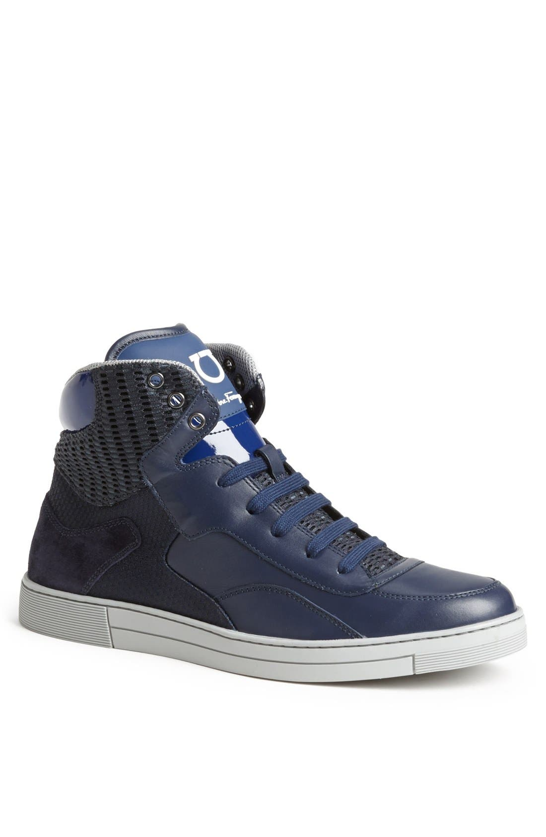 Alternate Image 1 Selected - Salvatore Ferragamo 'Robert' High Top Sneaker