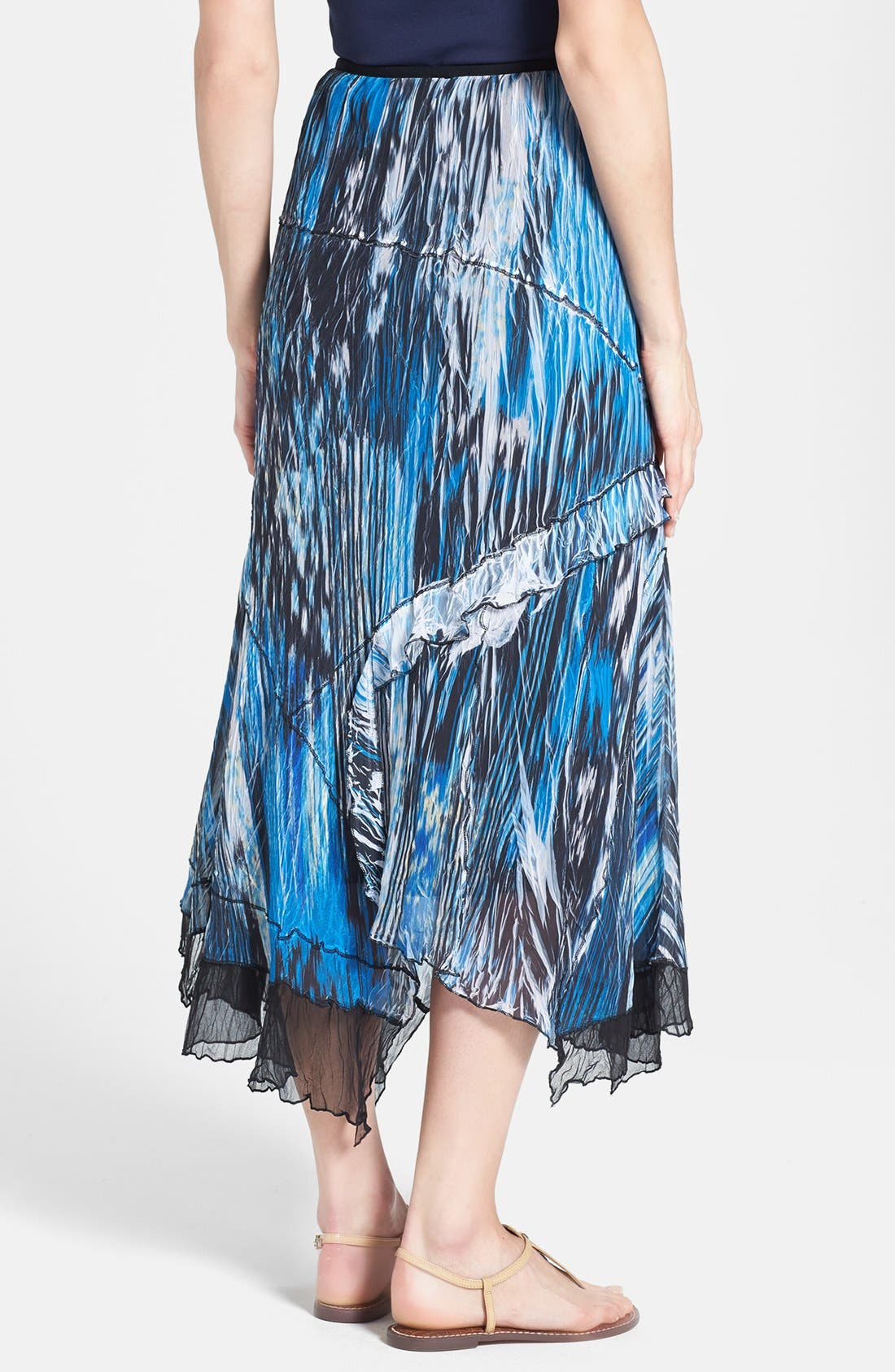 Alternate Image 2  - Komarov Print Handkerchief Hem Skirt