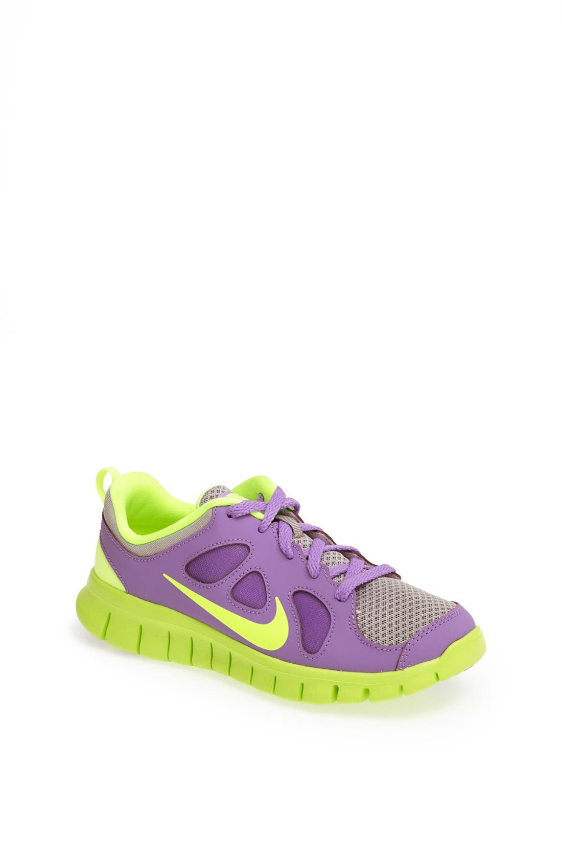 'Free Run 5.0' Running Shoe,                             Main thumbnail 1, color,                             Atomic Violet/ Volt/ White