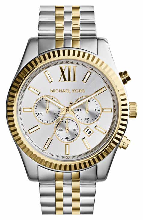 88eb3c3a8595 Michael Kors Large Lexington Chronograph Bracelet Watch