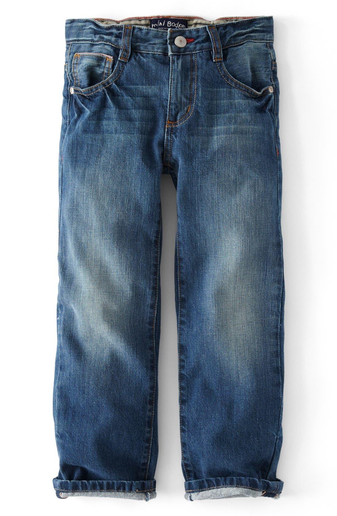 Alternate Image 1 Selected - Mini Boden Vintage Jeans (Toddler Boys, Little Boys & Big Boy)
