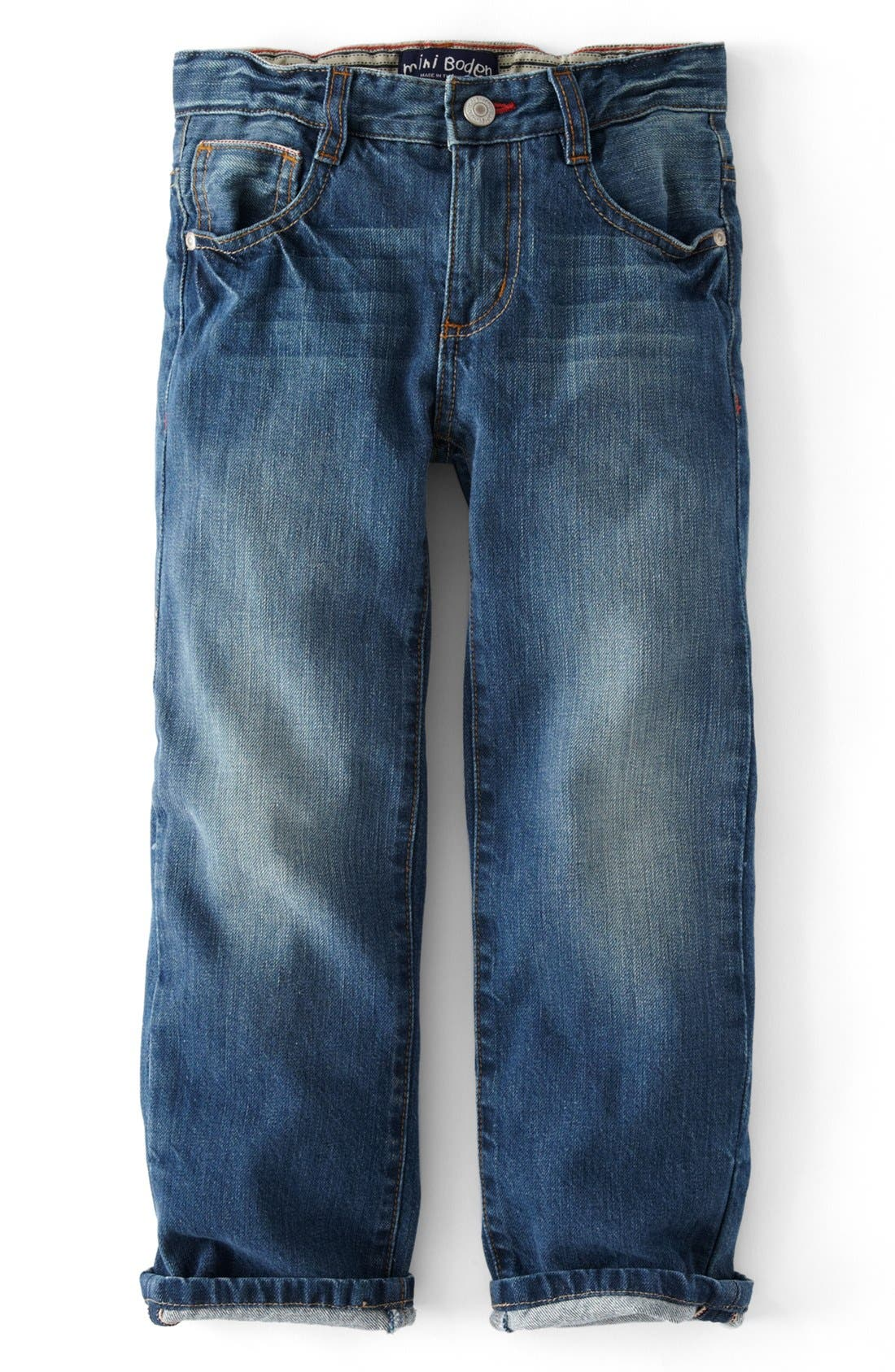 Main Image - Mini Boden Vintage Jeans (Toddler Boys, Little Boys & Big Boy)