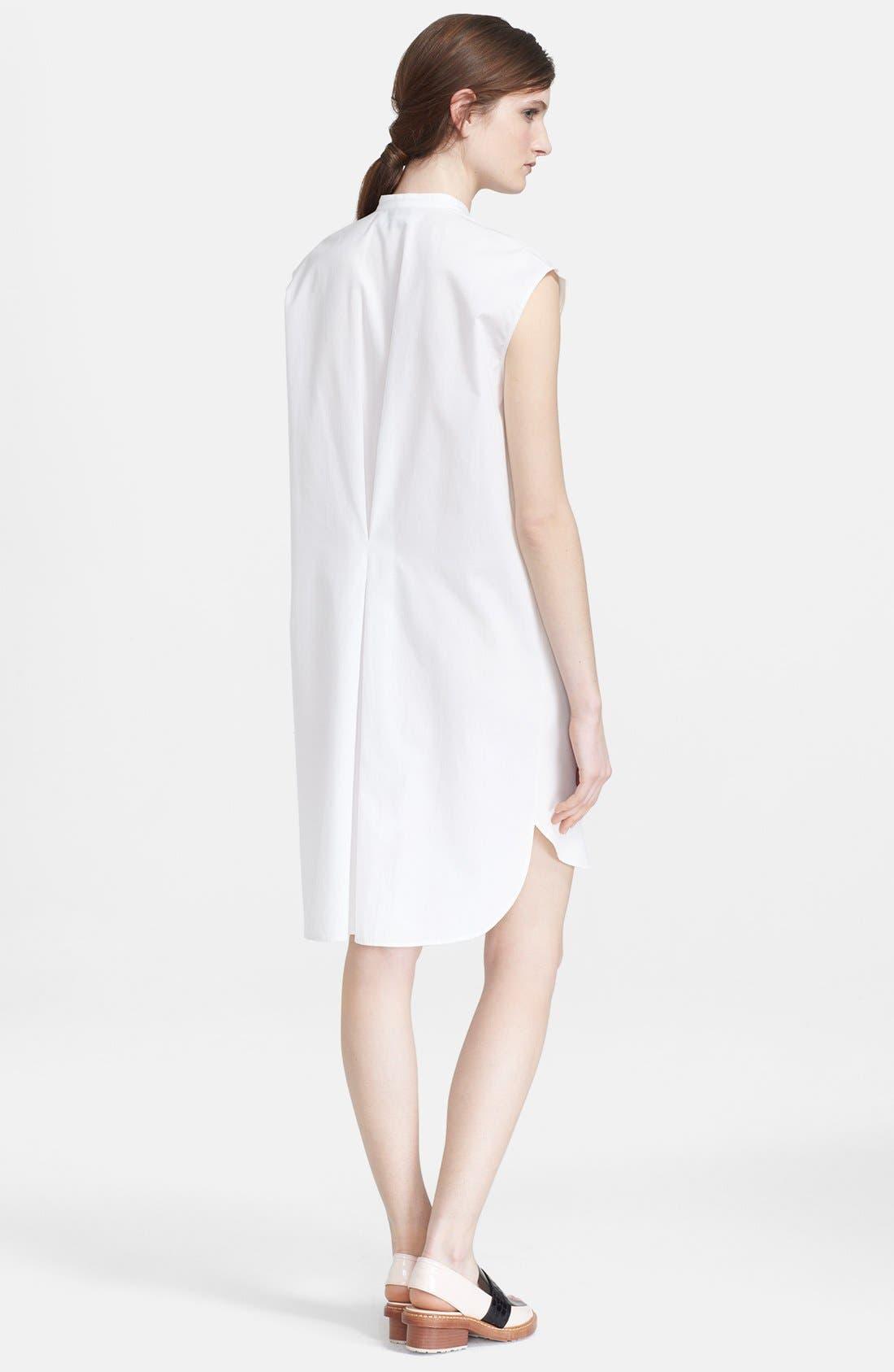 Alternate Image 2  - 3.1 Phillip Lim Collarless Cotton Shirtdress
