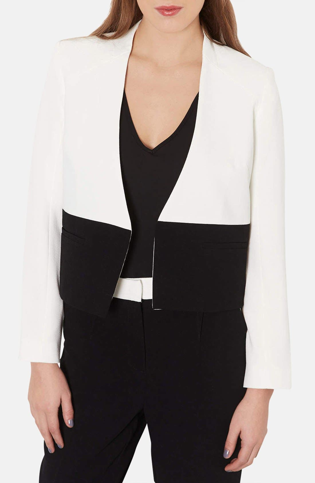 Main Image - Topshop 'Carrie' Colorblock Jacket