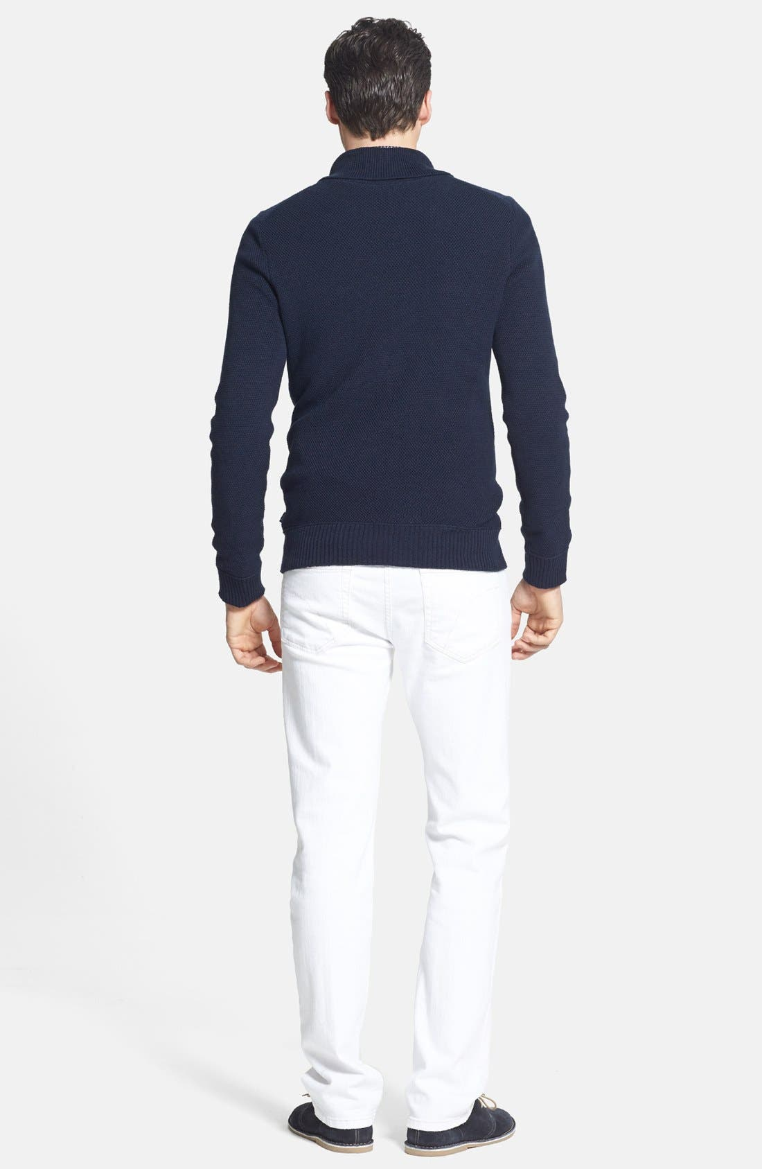 Alternate Image 5  - BOSS HUGO BOSS 'Pivot' Slim Fit Shawl Collar Sweater