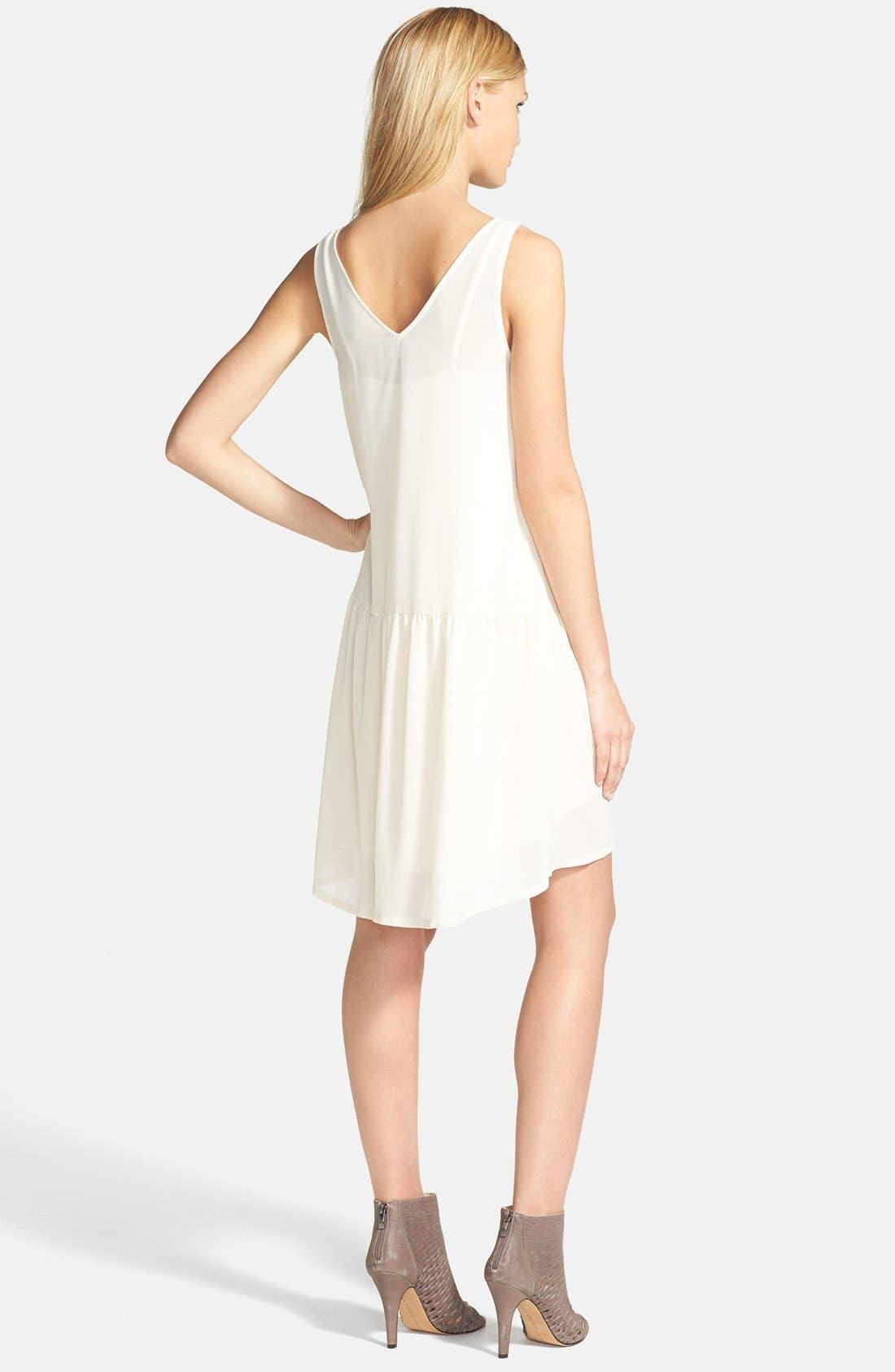Alternate Image 2  - Tildon V-Neck Drop Waist High/Low Dress