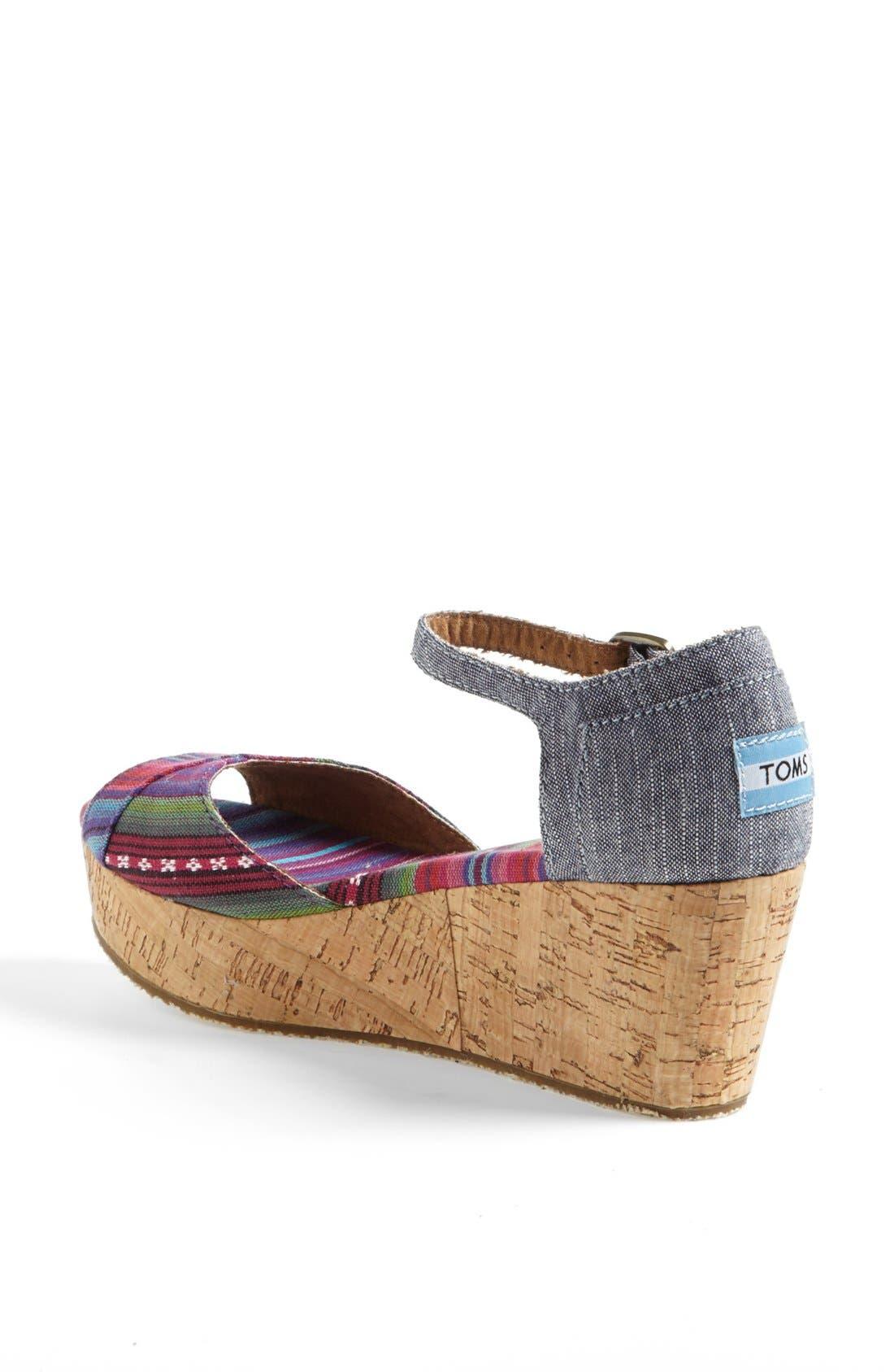 Alternate Image 2  - TOMS Platform Wedge Sandal (Women)