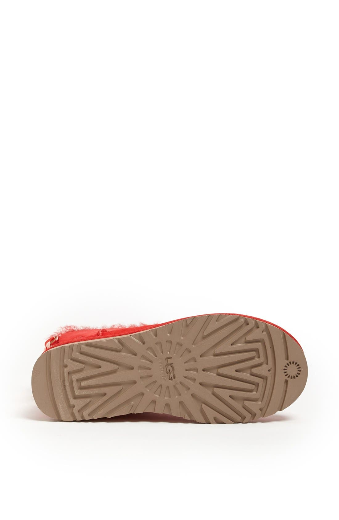 Australia 'Mini Bailey Button Bow' Boot,                             Alternate thumbnail 4, color,                             Red