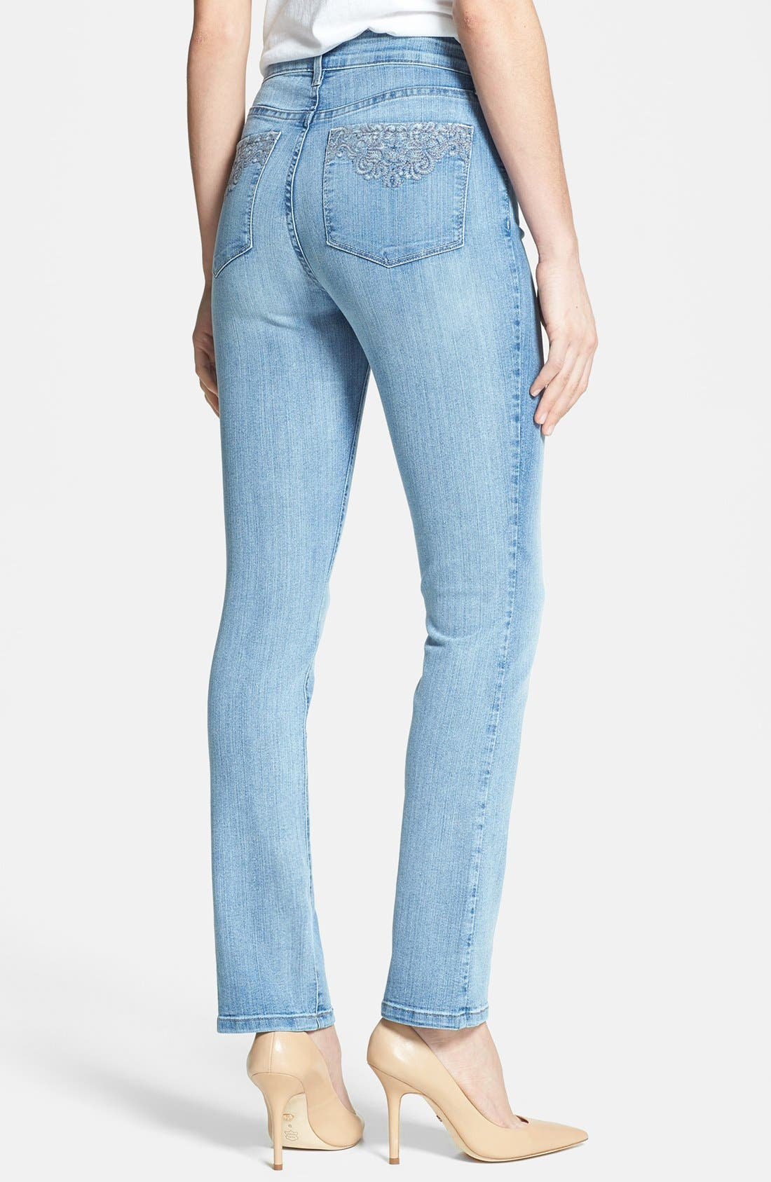 Alternate Image 2  - NYDJ 'Sheri' Stretch Skinny Jeans (Palos Verdes) (Regular & Petite)