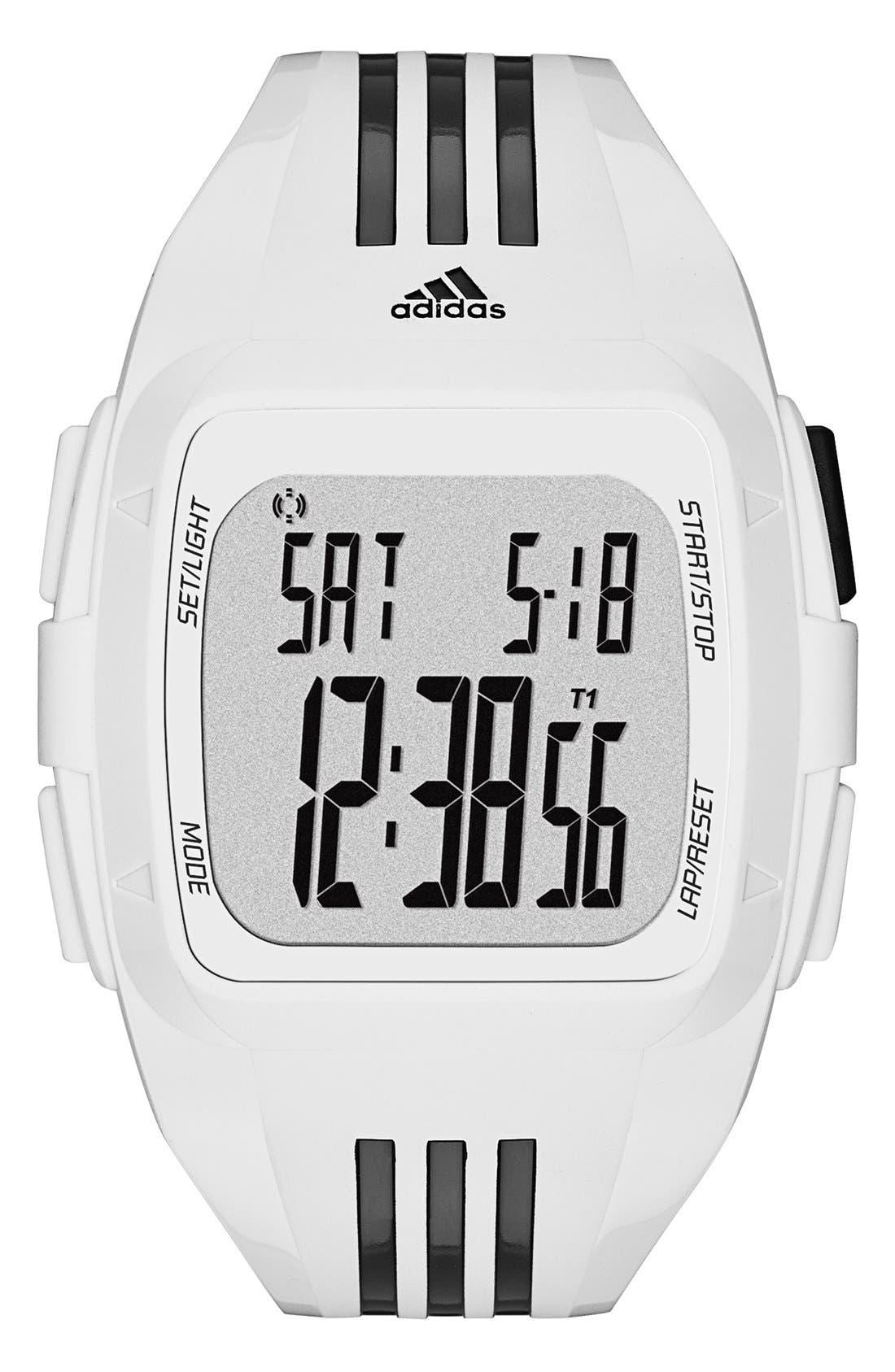 Alternate Image 1 Selected - adidas Originals 'Duramo XL' Digital Watch, 50mm