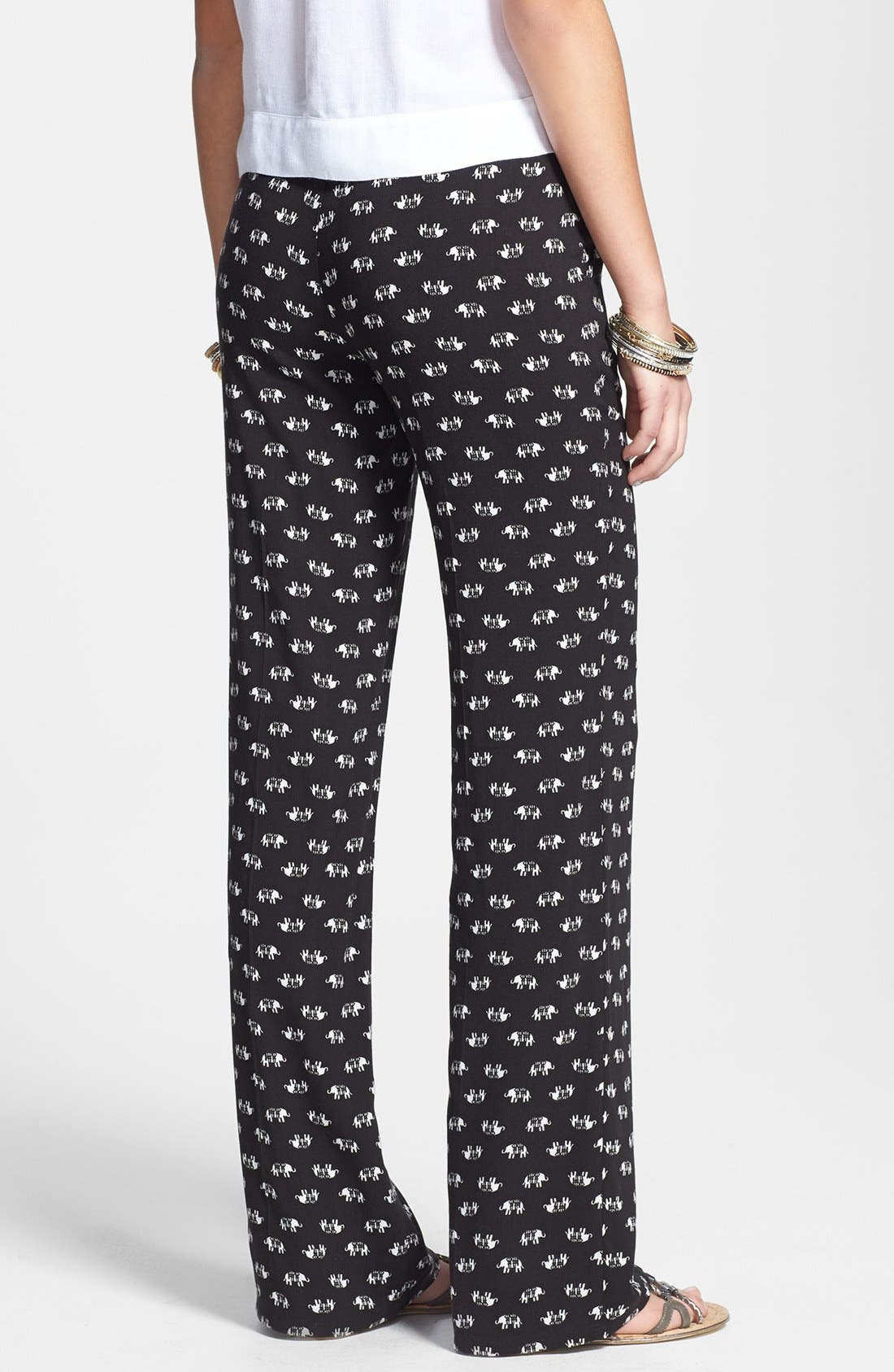 Alternate Image 2  - Jolt Print Palazzo Pants (Juniors) (Online Only)