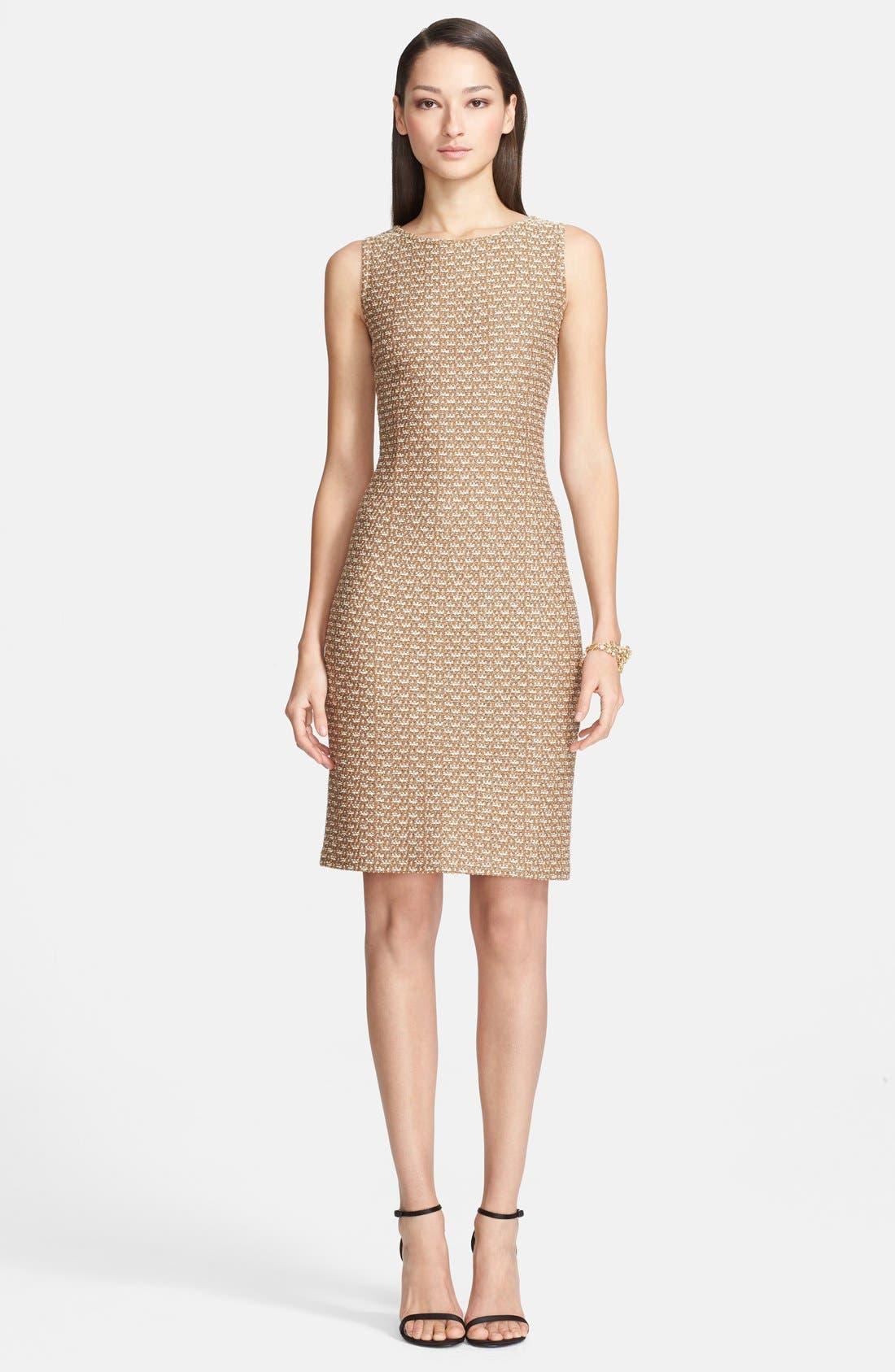 Main Image - St. John Collection Broken Stripe Knit Sheath Dress