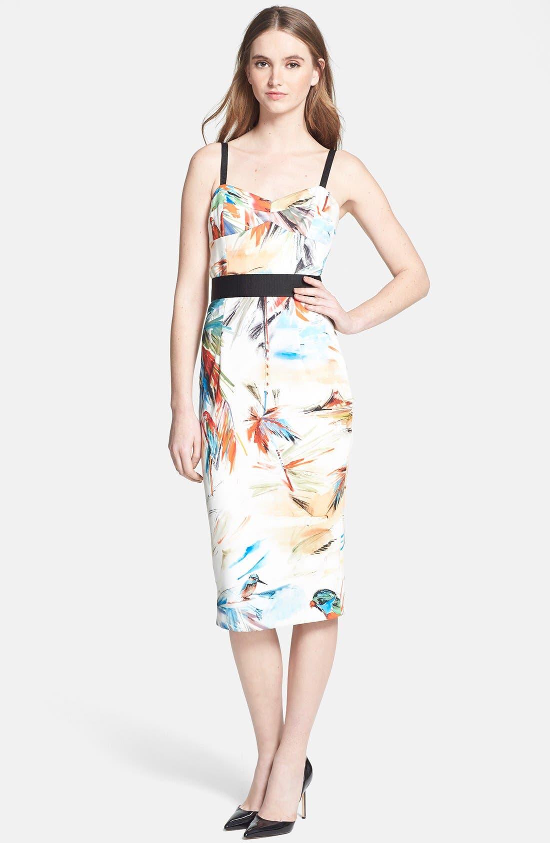Main Image - Milly Contrast Trim Print Dress
