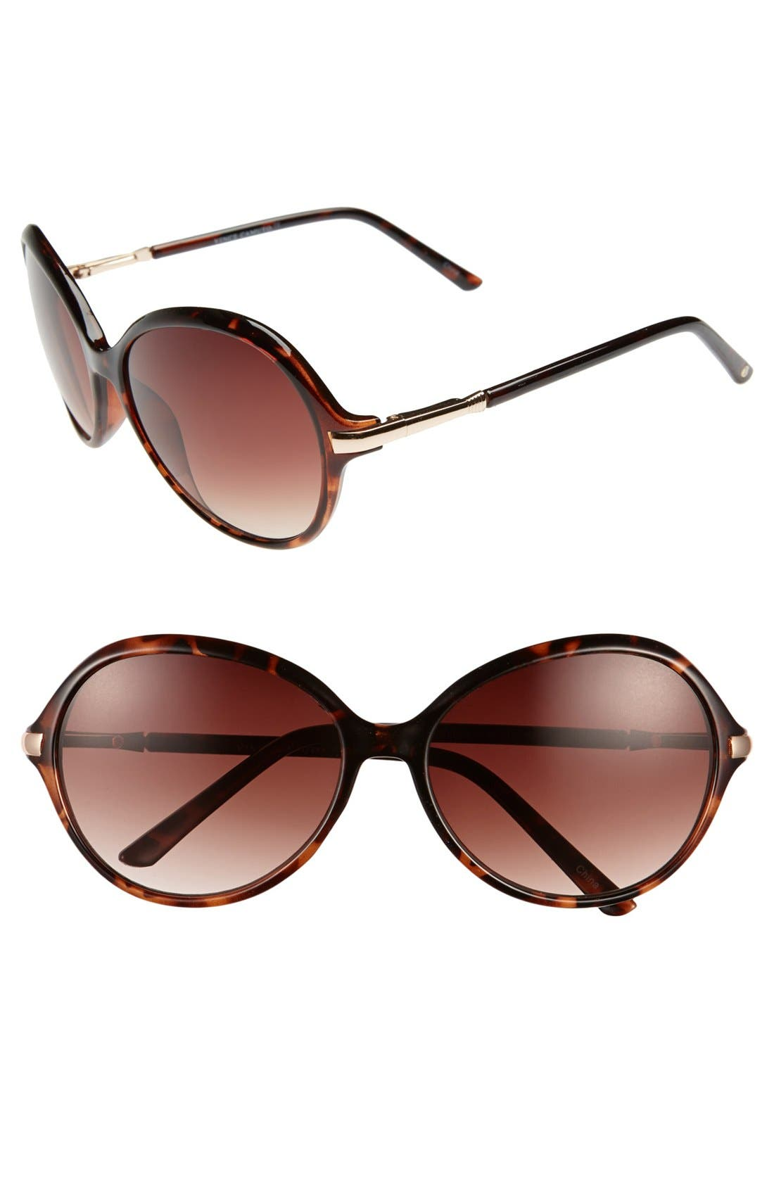 Alternate Image 1 Selected - Vince Camuto 60mm Oval Sunglasses