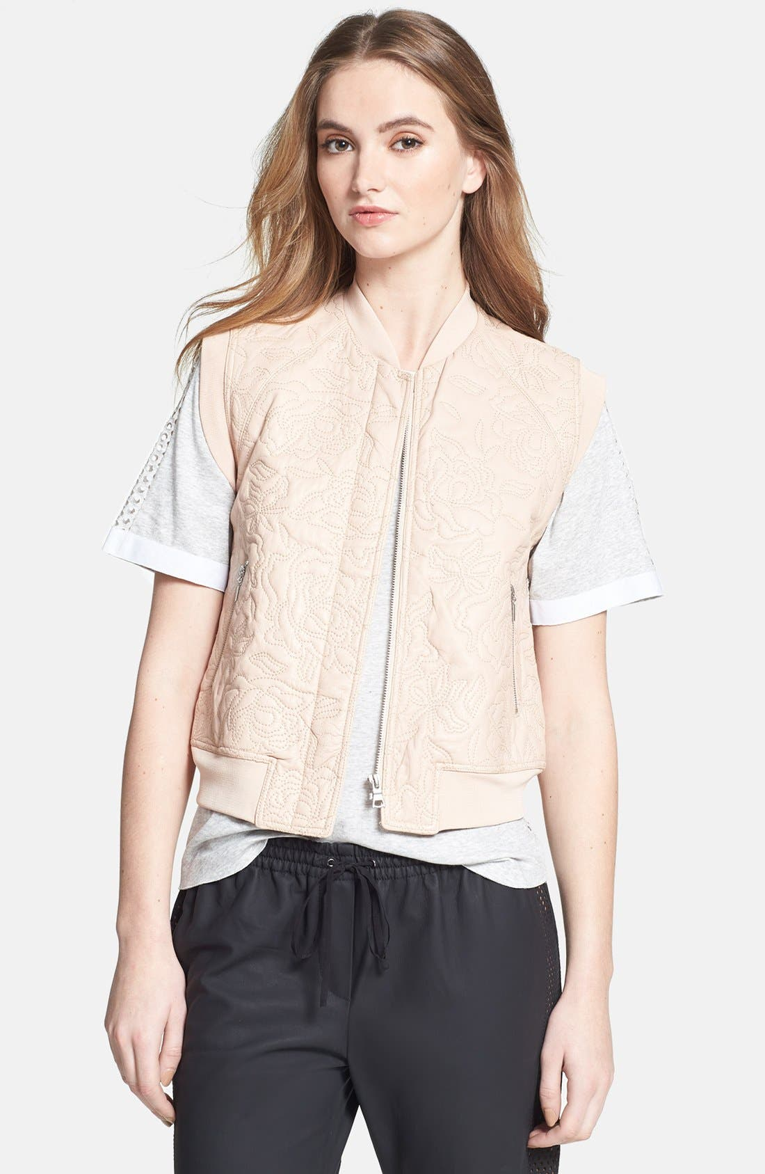 Alternate Image 1 Selected - Rebecca Taylor Quilted Leather Vest