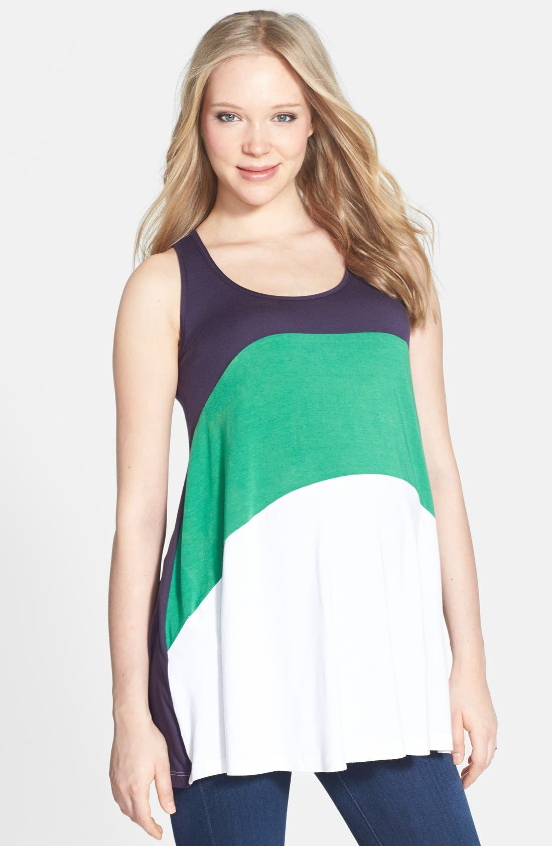 Main Image - Nom Maternity 'Liz' Colorblock Maternity Tunic