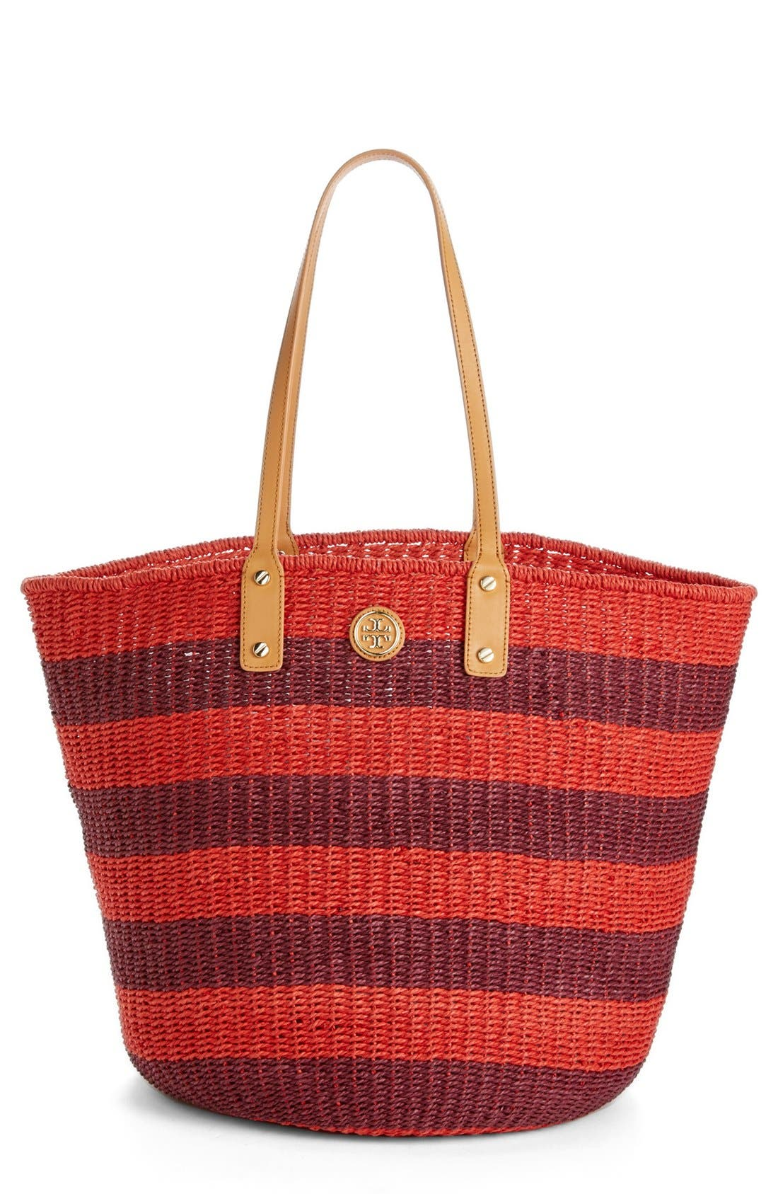 Alternate Image 1 Selected - Tory Burch 'Tyler' Straw Tote