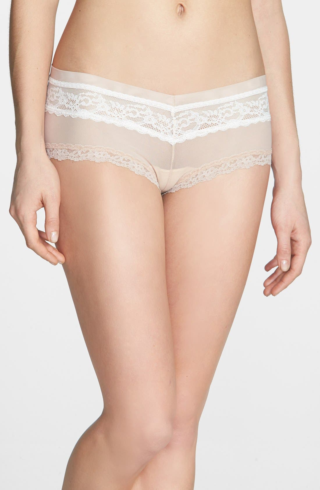 Alternate Image 1 Selected - Hanky Panky 'Sheer Indulgence' Lace Trim Boyshorts