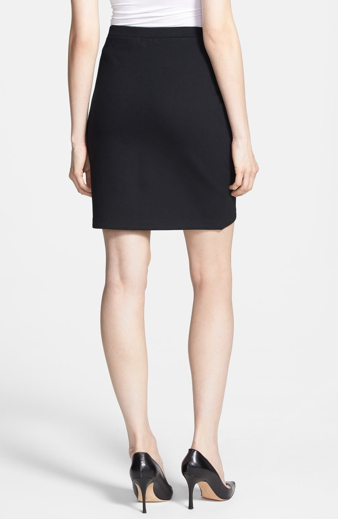 Alternate Image 2  - Trouvé Perforated Faux Leather Front Skirt