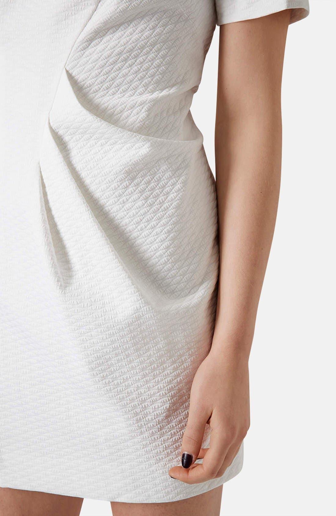Alternate Image 4  - Topshop 'Premium' Textured Pleat Sheath Dress